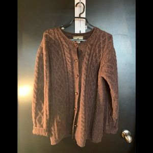 Point Zéro all wool forever sweater cardigan